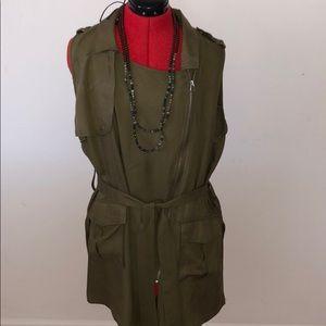 Love Tree  zip up dress/long vest